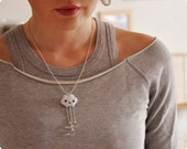 Raindrop Felt Necklace
