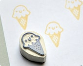 Little icecream- Special Summer hand carved rubber stamps
