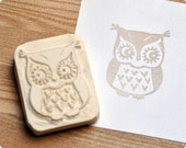 Tiny owl hand carved rubber stamp. Handmade rubber stamp. Rubber stamp