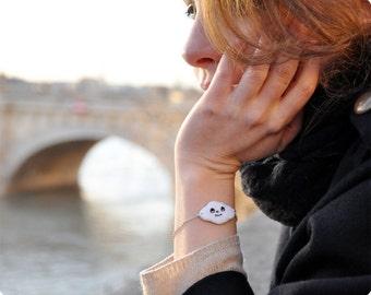 New bijoux from cloudsland: smiling felt cloud bracelet