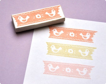 1 pcs hand carved rubber stamp washi tape AT CHOICE