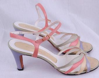 Vintage  pastel  heels Size 8B