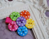 Cute as a Button Hair bow- Perfect for Newborns, Toddlers, and Girls