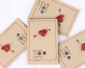 Love Cards, Love Notes, Note Cards, Little Surprise Owl Love Notes (4) with envelopes