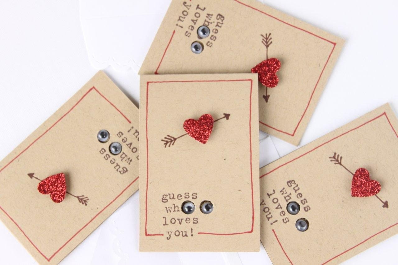 4 Valentines Day Cards Little Owl Love Notes 4 with – Valentine Note Cards