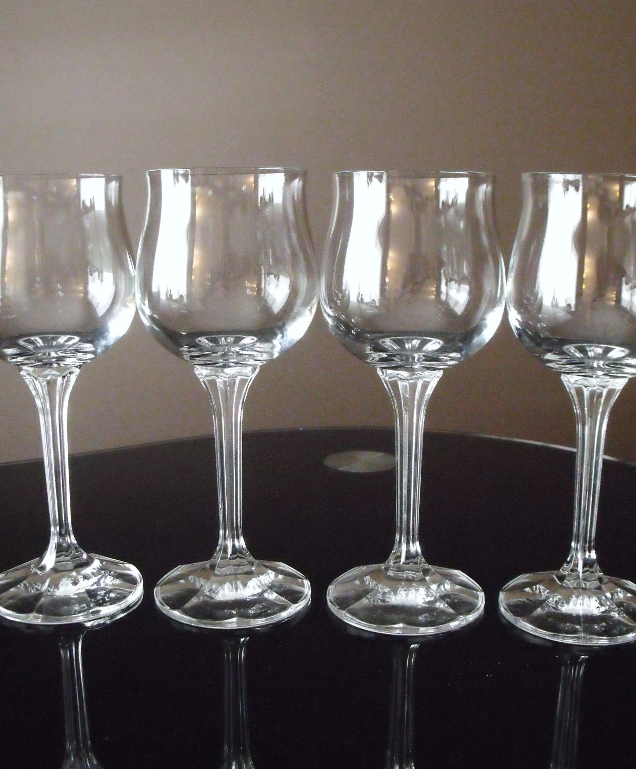 Vintage Crystal Wine Glasses Bohemian Crystal Made By