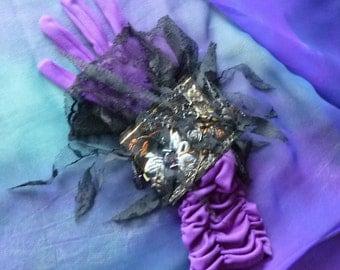 Cuff Wristlet, Vampire Cuff, Gothic Black Cuff, Lace Cuff Bracelet by gothb4play