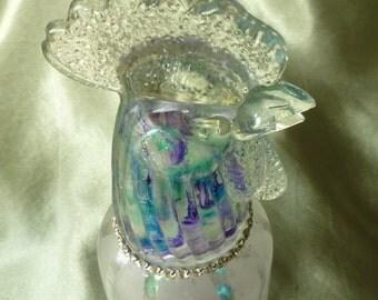 Glass Sun Catcher Chicken Head Spirit Bottle by gothB4play
