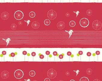 Birch AVALON by jaycyn - Take Flight Cherry- Organic Cotton Fabric - low shipping