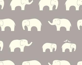 Birch MOD BASICS Ellie Fam Shroom Grey- Organic Cotton Fabric