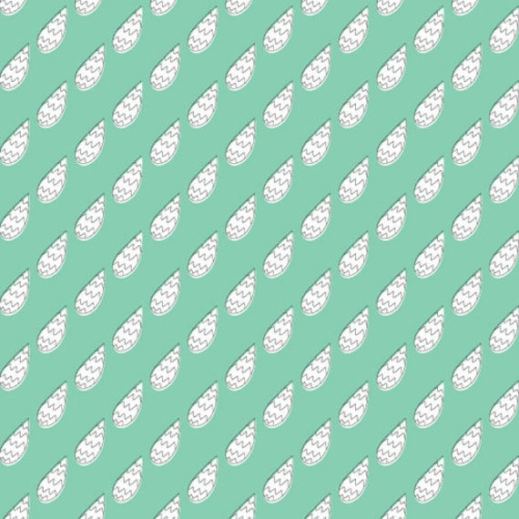 cloud9 MONSTERZ  static mint - Organic Cotton Fabric- Fantastic Shipping Rates