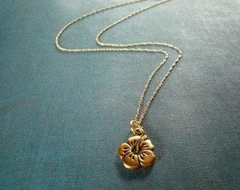 Hibiscus Flower Necklace, beach theme jewelry