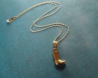 Cowboy Boot Necklace