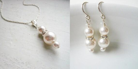 Swarovski Pearl Jewelry Set, FREE  shipping U.S. address