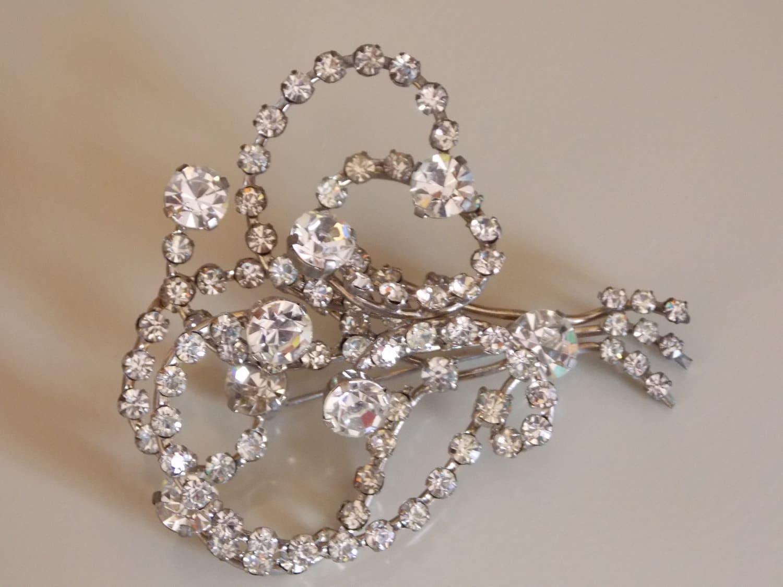 Vintage austrian crystal brooch