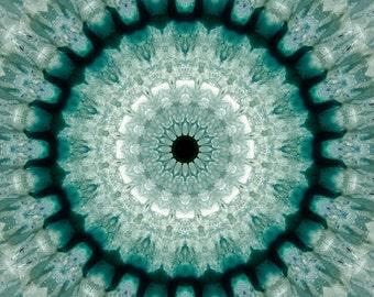 Geode Mandala - Aluminum Print