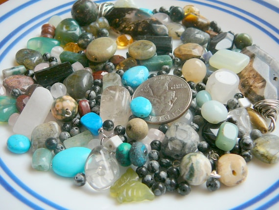 destash semi precious stone. under 15.00