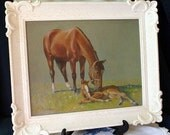 Vintage C.W. Anderson Lithograph Horses Print Wall Art