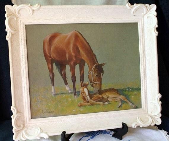 Vintage C W Anderson Lithograph Horses By Springcreekboutique