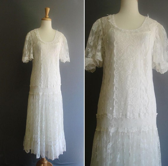 Items Similar To Vintage 1920s OUT OF A DREAM White Lace