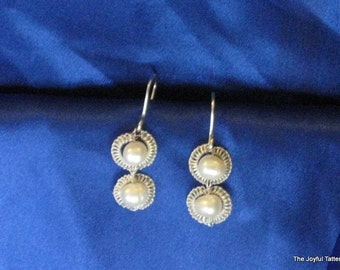 Fine Silver and Pearl Earrings