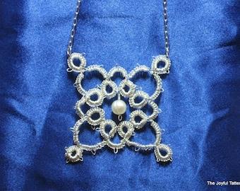 Fine Silver Victoriana Tatted Pendant