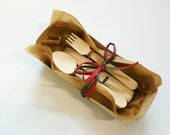 10 Wooden Disposable Cutlery for crafting, stamping, painting