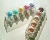 4 Crystal clear Transparent Macaron Cases (5 holding type)