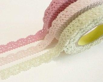 Crochet lace deco tape ( 3 different colors )