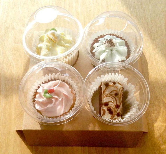 10 Transparent cake holder for Muffins, Cup cakes and cookies
