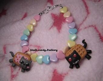 Nyan cat bracelet : rainbow love