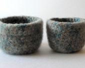 Ready to Ship Small Felted Nesting Bowls - Meadow