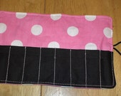 Crayon Roll Cozy Holder Polka Dot Pink Mouse Other Styles Available