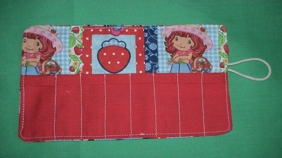 Crayon Roll Cozy Holder Strawberry Shortcake Other Styles Available