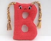 Letter B - Alphabet Stuffed Toy Knitting PATTERN - Babette