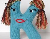 Letter K - Alphabet Plush Toy Knitting PATTERN - Karianne