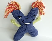 Letter X - Alphabet Plush Toy Knitting PATTERN - Xavier