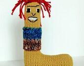 Letter L - Alphabet Plush Toy Knitting PATTERN - Lars