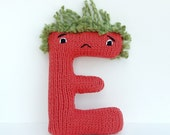 Letter E - Alphabet Plush Toy Knitting PATTERN - Esteban