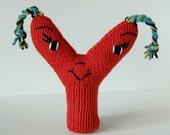Letter Y - Alphabet Plush Toy Knitting PATTERN - Yolanda