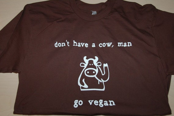 GO VEGAN Shirt.  Women and Men American Apparel Shirt M, L, XL