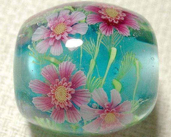 Doubele Cosmos Flower Round Bead sra