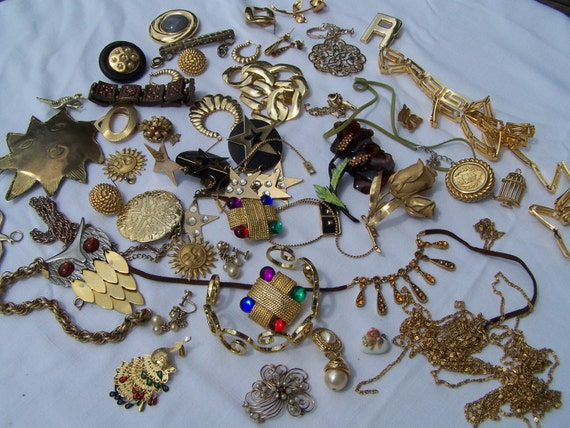 Jewelry Supplies Lot  -Recycle-Repurpose-Vintage-Costume