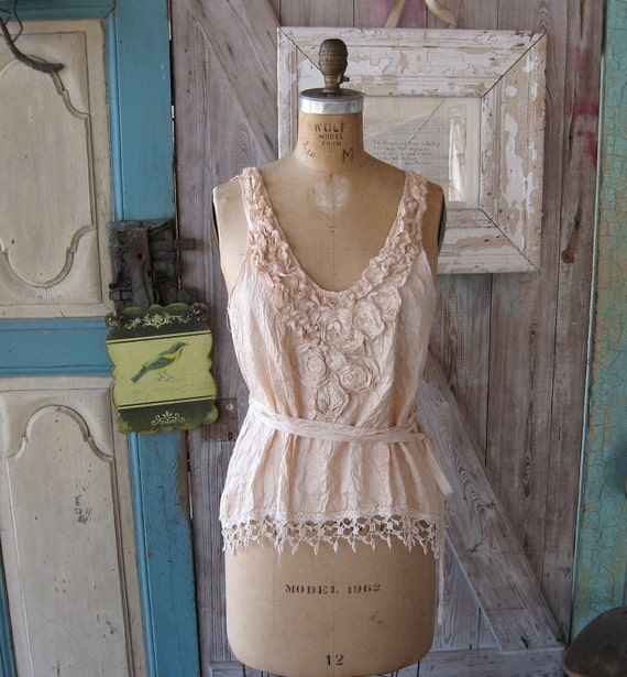 silk camisole tea dyed in ivory