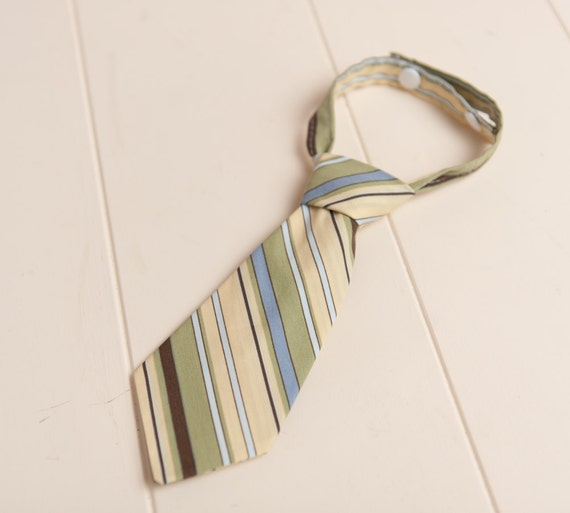 brown yellow stripe Baby Newborn to 6 months boy NECK TIE ReAdY tO sHiP