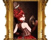 Rococo Historical Wig -La Black Pearl- PIRATE SHIP/or BIRDCAGE 18th century wig Marie Antoinette Ship or Birdcage wig by Kathleen Marie