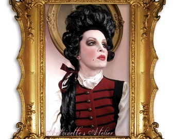 Rococo 1770s Historical Wig,Duke D'Orleans,Perfect Pompadour for Rococo Dandies. By Kathleen Marie