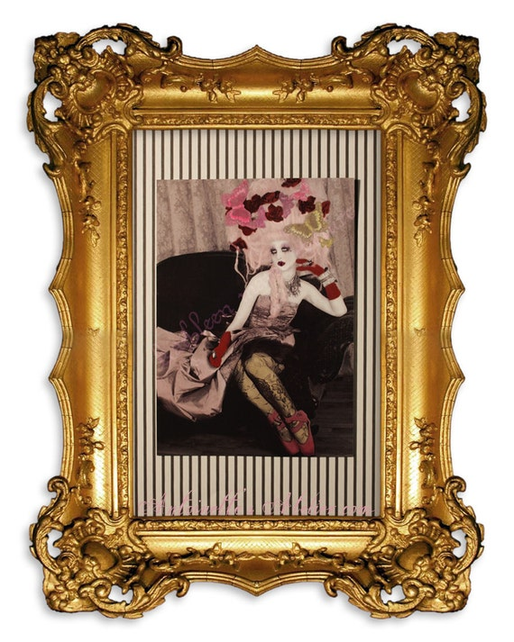 "Couture Fashion Portrait Print No. 12 "" Rococo Pierrot (Prelude) "" --Beautiful and Damned--by Kathleen Marie Couture"