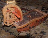 Shabby Chic Vintage Wooden Rocking Horse