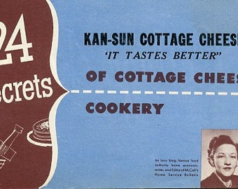 24 Secrets of Cottage Cheese Cookery - Kan-Sun Cottage Cheese Recipes